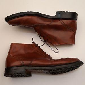 ALLEN EDMONDS Split Toe Brown Sz 9.5 D Ankle Boots